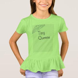 Camiseta Plissado minúsculo T do Queens