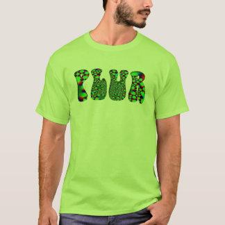 Camiseta PLUR psicadélico verde