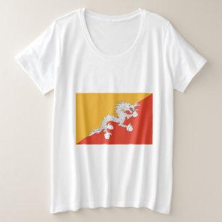 Camiseta Plus Size Bandeira de Bhutan