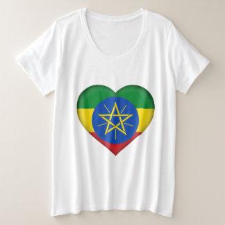 Camiseta Plus Size Bandeira de Etiópia