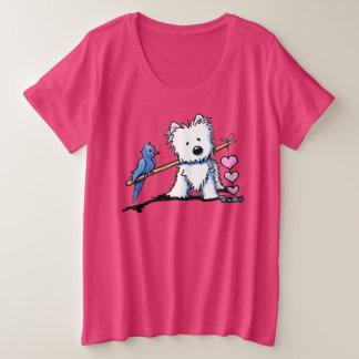 Camiseta Plus Size Heartstrings de KiniArt Westie