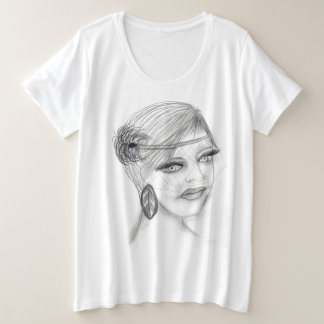 Camiseta Plus Size Menina encoberta de Deco