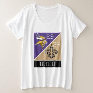 Camiseta Plus Size Mulheres mais o t-shirt do tamanho
