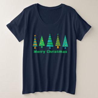 Camiseta Plus Size Natal dos abeto mais o t-shirt do tamanho