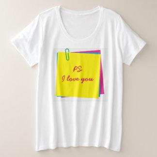 Camiseta Plus Size Notas de post-it coloridas com mensagem do