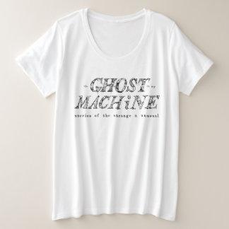 Camiseta Plus Size O fantasma em meu t-shirt do logotipo da máquina -