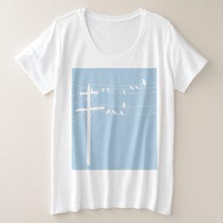 Camiseta Plus Size Pássaros