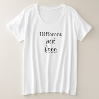 """Camiseta Plus Size Senhoras mais o Tshirt do tamanho """"diferente não"""