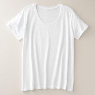 Camiseta Plus Size T-shirt básico do Mais-Size das mulheres