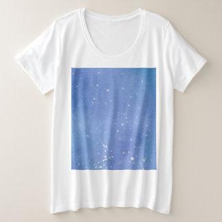 Camiseta Plus Size Watercolour de mármore azul Splat