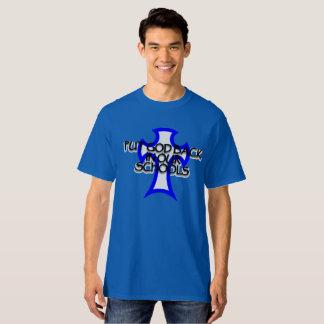 Camiseta Pnha o deus para trás em nossas escolas, altas