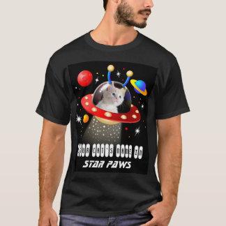 Camiseta Pnha seu gato em um filme estrangeiro do UFO Sci