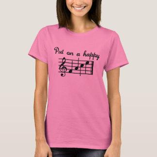 Camiseta Pnha sobre uma canção feliz