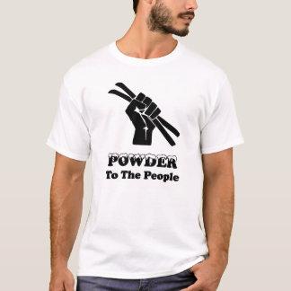 Camiseta Pó às pessoas