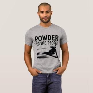 Camiseta PÓ às PESSOAS, esqui dos t-shirt do ESQUIADOR