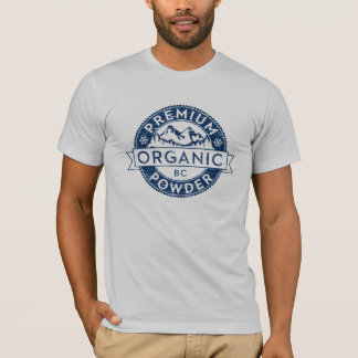 Camiseta Pó orgânico superior do Columbia Britânica