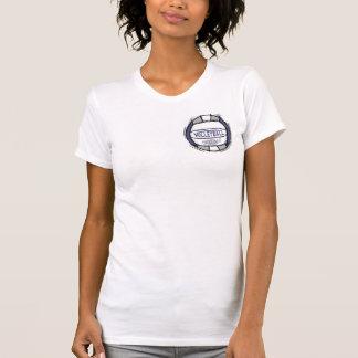 Camiseta Pode a escavação de U ele cinza roxo do voleibol