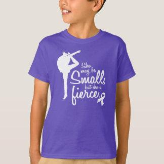 Camiseta Pode ser pequena, mas é roxo feroz