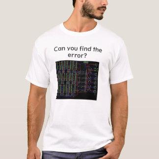 Camiseta Pode você encontrar o erro, t-shirt do engenheiro