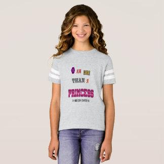 Camiseta Poder da menina - mais do que uma princesa