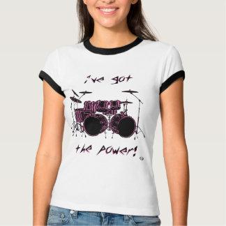 Camiseta Poder do cilindro de contrabaixo