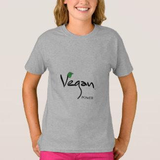 Camiseta Poder do Vegan com a folha verde legal