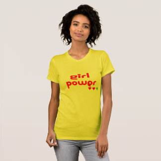 Camiseta Poder Glam retro da menina