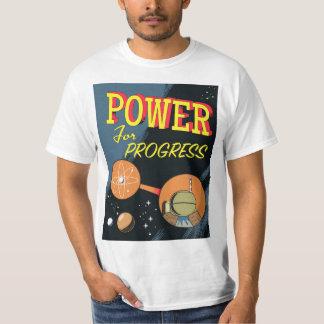 Camiseta Poder para o poster atômico do vintage do