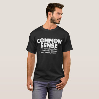 Camiseta Poder super tão raro comum de senso do oficial