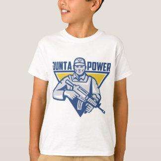 Camiseta Poder ucraniano da junta do exército