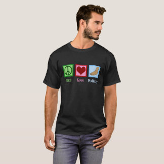 Camiseta Podiatry do amor da paz