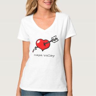 Camiseta podpilots.com PERFUROU O CORAÇÃO no v-pescoço de