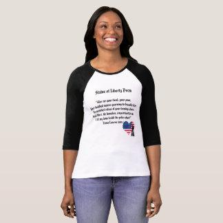 Camiseta Poema da estátua da liberdade