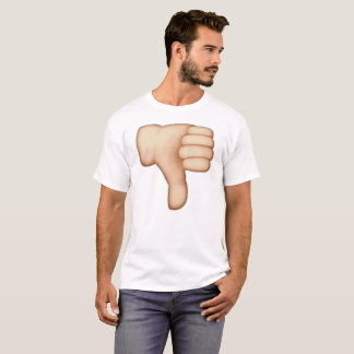 Camiseta Polegares para baixo - Emoji