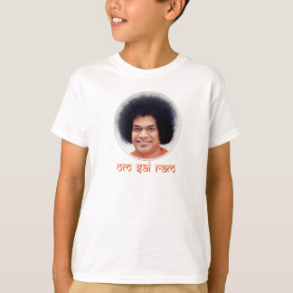 Camiseta Poli-Algodão do t-shirt do miúdo de Sathya Sai