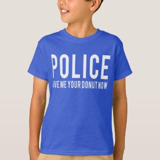 Camiseta Polícia. Dê-me suas rosquinhas agora