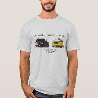 Camiseta Polícia ou táxi - personalize-o!