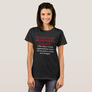 Camiseta Política do salão de beleza