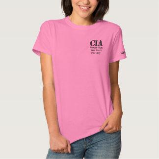 Camiseta Polo Bordada CIA, grupo de trabalho remoto da vista, libra por