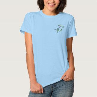 Camiseta Polo Bordada Jardim do colibri