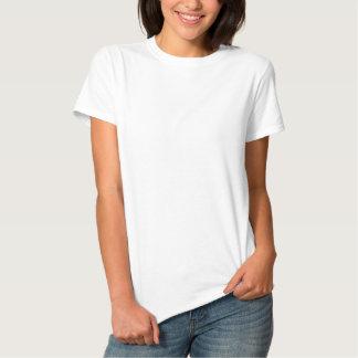 Camiseta Polo Bordada O t-shirt básico bordado das mulheres