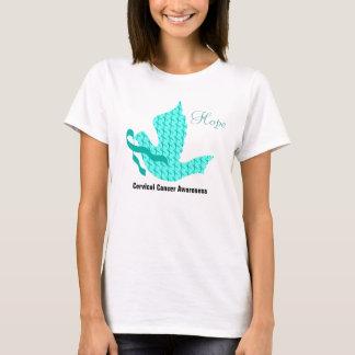 Camiseta Pomba da esperança - fita da cerceta (cancro do