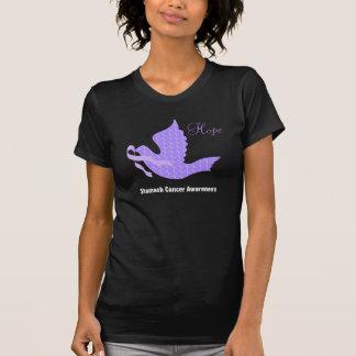 Camiseta Pomba da fita da pervinca da esperança - cancer de