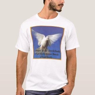 Camiseta pomba em vôo, eu sou amado por minha família da