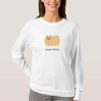 """Camiseta Pomeranian cão bonito """"distorcido"""" morno com texto"""