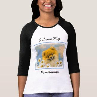 Camiseta Pomeranian nas margaridas