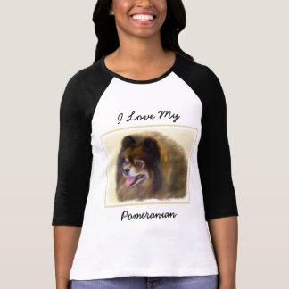 Camiseta Pomeranian (preto e Tan)