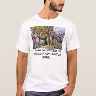 Camiseta Ponce, homem que controla a fonte do yo…