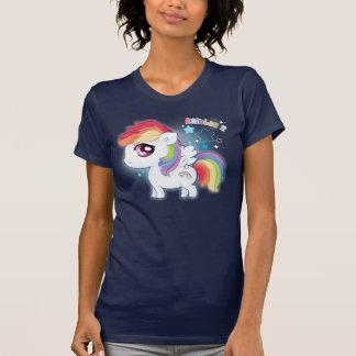 Camiseta Pônei bonito do arco-íris do kawaii