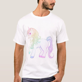 Camiseta Pônei colorido do unicórnio do kawaii arco-íris